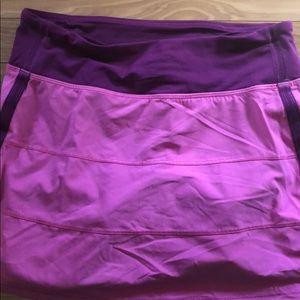 Lululemon pink and purple skirt